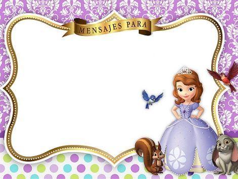 Invitaciones De Cumpleaños De La Princesa Sofía Princess