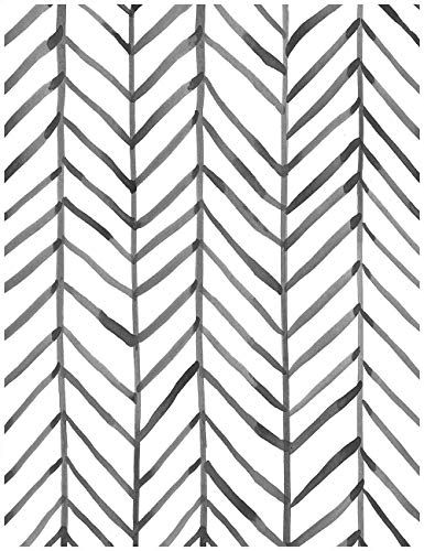 Haokhome 96020 1 Modern Stripe Peel And Stick Wallpaper Herringbone Black White Vinyl Peel And Stick Wallpaper Contact Paper Decorative White Pattern Wallpaper