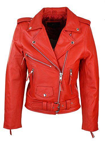 Blouson Femme Cuir Véritable Perfecto Classique Biker Brando Style Motard High Quality Materials Coats, Jackets & Vests