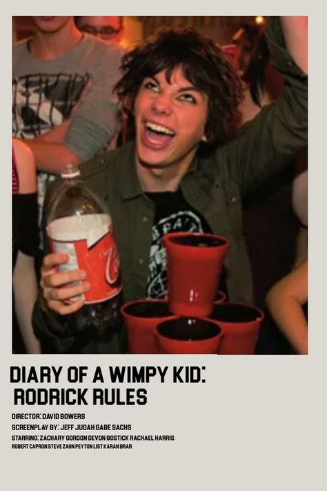 diary of a wimpy kid rodrick rules polaroid poster