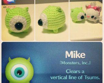 Tsum Tsum Amigurumi Pattern Free : Amigurumi tsum tsum mike monster inc crochet amigurumi monsters