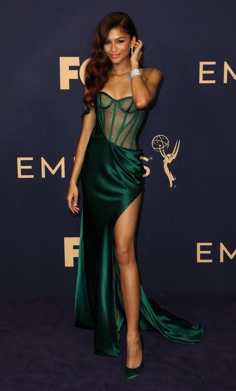 Emmys 2019 Red Carpet Fashion: Zendaya in Vera wang