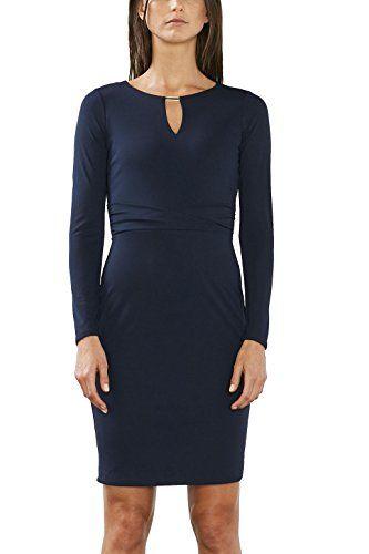Esprit Collection Damen Kleid 017eo1e006 Blau Navy 400 38 Herstellergrosse M Kleider Damen Damenkleider Maxi Kleider