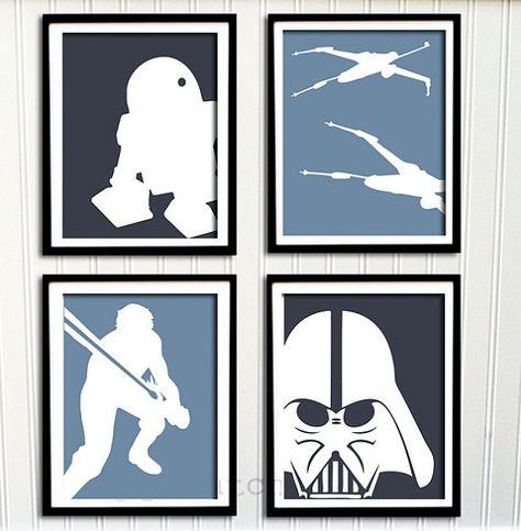 Star Wars Print Set  Boys Nursery or Room Boys by PrintChicks, $40.00