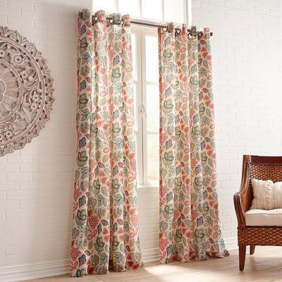 Macie Multifloral Grommet Curtain In 2019 Curtains Dining Room Curtains Grommet Curtains
