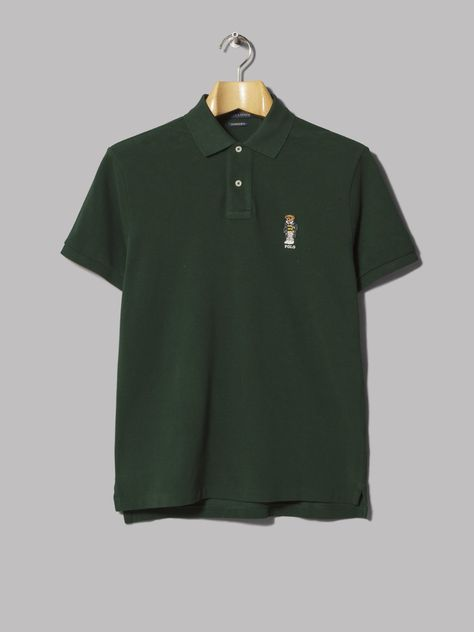 5fc9e14f3 Polo Ralph Lauren Custom Slim Fit Bear Polo (College Green ...
