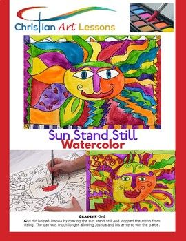 Art Lesson Sun Stand Still Colorful Watercolor Painting Art