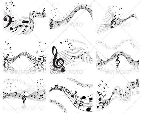 Musical Staff Set - Miscellaneous Vectors