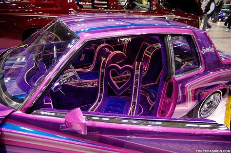 Pictures and video from Japan Lowrider Show 2009 in Tokyo Japan. Purple Aesthetic, Bad Girl Aesthetic, Aesthetic Art, Lowrider Show, Dream Cars, The Wicked The Divine, Car Upholstery, Doja Cat, Car Mods