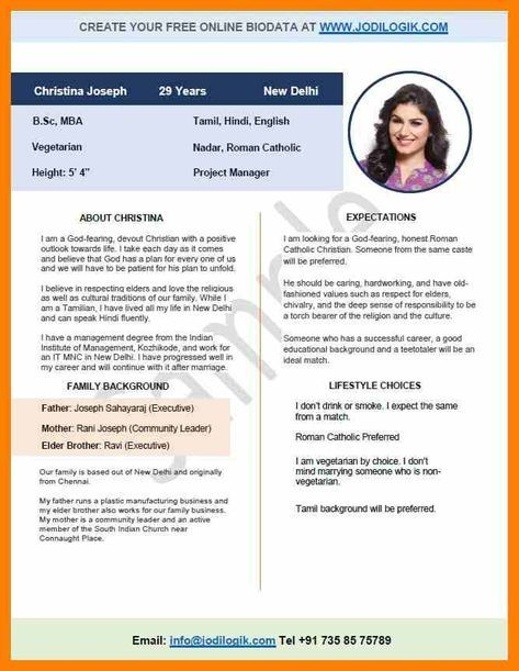Pin By Hardik Prajapati On Format With Images Bio Data For Marriage Marriage Biodata Format Biodata Format