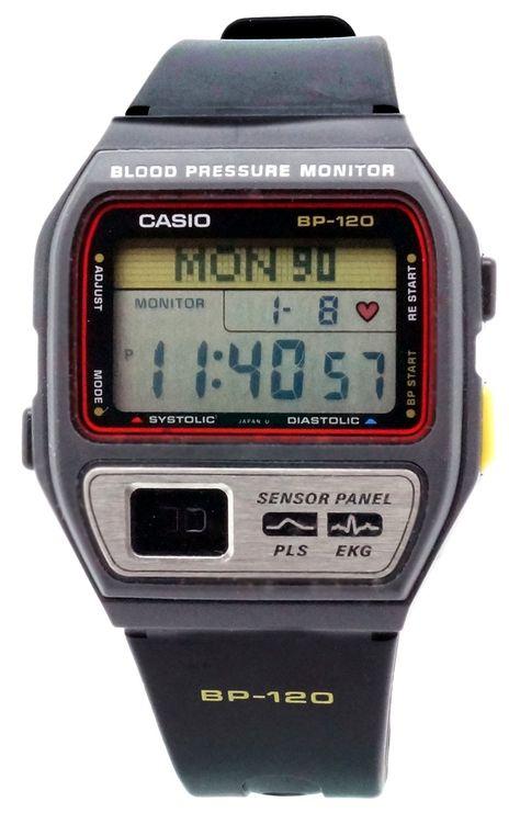 Casio - BP-120-1AA - Montre Homme - Quartz Digitale - Cardiofréquencemètre - Bracelet Caoutchouc Noir: Amazon.fr: Montres
