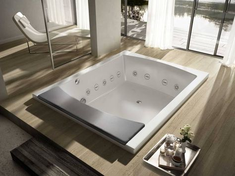 Vasca da bagno a 2 posti idromassaggio SEASIDE T08 by TEUCO ...