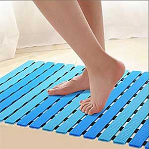 Ifrmmy Non Slip Bath Shower Floor Mat With Drain Hole And Suction Cups Shower Floor Shower Floor Mat Bath