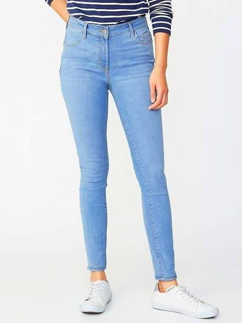 Outfits / Clothes Old Navy Mid-Rise Built-In Sculpt Rockstar Jeans for Women #LowRiseJeans #lowrisejeans