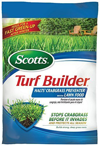 Scotts Turf Builder Halts Crabgrass Preventer With Lawn Food 5 000 Sq Ft Boise State Gear Crab Grass Turf Builder Lawn Food