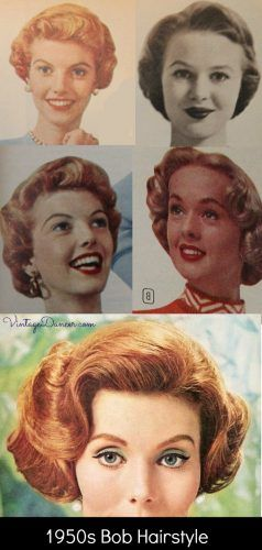 1950s Bob Or Bobbed Hairstyles Short Curly Fun 1950s Hairstyles Short Hair Styles 50s Hairstyles