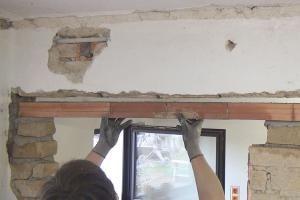 Tursturz Neu Einbauen Fenstersturz Maurerarbeiten Und Fenster Einbauen