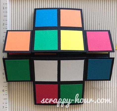 Rubiks Cube Infinity Card Tutorial 12 Card Making Tutorials Infinity Card Card Tutorials