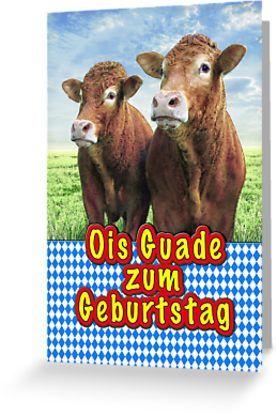 Geburtstag Auf Bayrisch Grusskarte Von Tombird