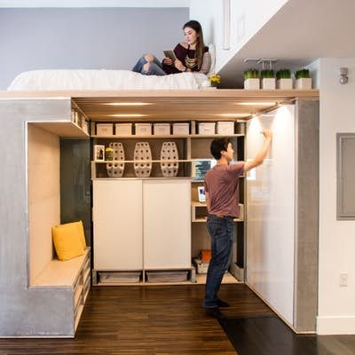 Multi Functional Space Saving Loft Squeezed Into Small San Francisco Condo