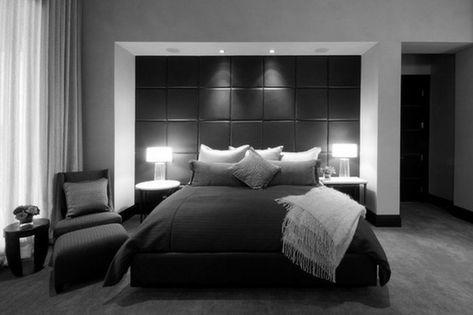 Schwarze Und Weiße Schlafzimmer Ideen Für Männer #Schlafzimmer