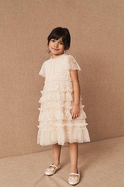 WeeH Girl Dress Gown Party Wedding Ruffles Dresses Ring Bearer Princess Dress