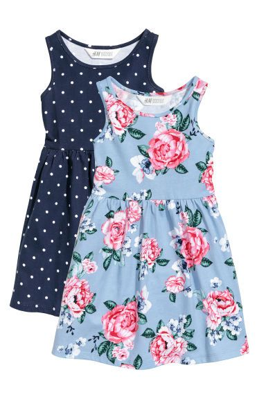 Kids Baby Girls Cute Dots Tank Top Floral Dress Skirt Sundress Outfits Clothes