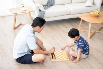 Chinese Father And Son Playing Chess Affiliate Father Chinese Son Chess Playing Ad In 2020 Character Design Tutorial Father And Son Design Tutorials