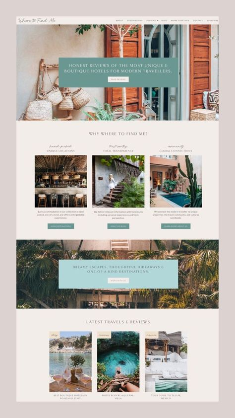 Feminine Blog Design - Travel + Lifestyle Blogger