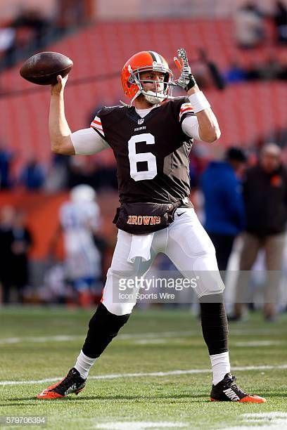 Cleveland Browns Quarterback Brian Hoyer Prior To The Football Game Cleveland Browns Quarterback Cleveland Browns Brian Hoyer