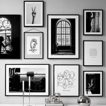 Striking Black White Gallery Wall Art Prints Mix Match In 2020
