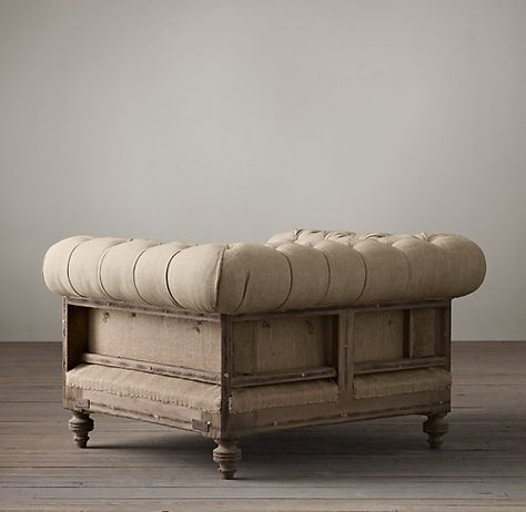 RH Deconstructed Chesterfield Upholstered Chair