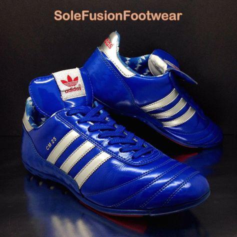 adidas Mens Trimm Trab Trainers BlueWhite sz 7 VTG Munchen