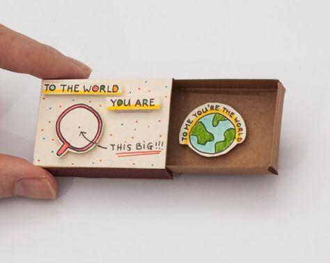 Anniversaire amour carte Matchbox / boîte de cadeau / par shop3xu