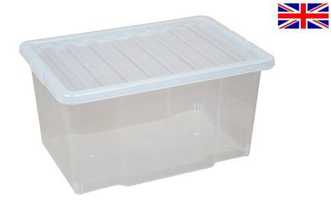 Details About Multipacks Of 50 Litre Large Plastic Storage Boxes