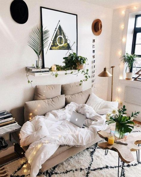 Simple Cozybedroom Ideas: College Apartment Decor, Living