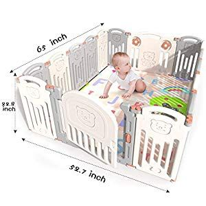 16 Panel Baby Playpen Kids Activity Centre Safety Play Yard for Infant Toddler