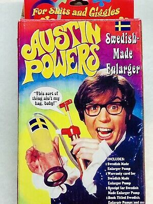 Vintage 1998 AUSTIN POWERS Swedish Made Male ENLARGER Novelty Pump ...
