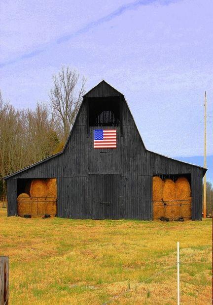 Black & Beautiful American Hay Barn