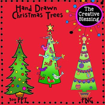 I Drew These Christmas Trees There Are 3 Different Designs Black And White Included 6 Images In All All My Clip A How To Draw Hands Clip Art Flower Clipart