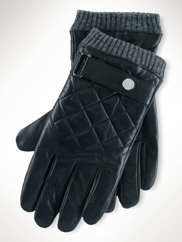 Quilted Racing Gloves - Polo Ralph Lauren Sale - RalphLauren.com ... : quilted racing gloves - Adamdwight.com