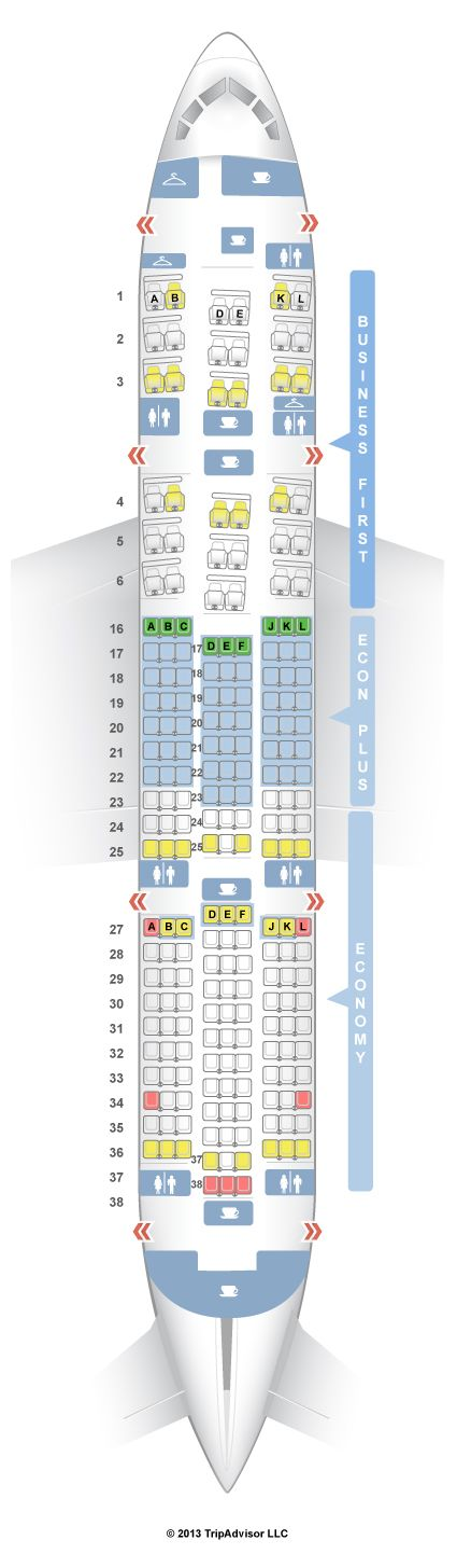 Seatguru Seat Map United Boeing 787 8 788 Aviones Y