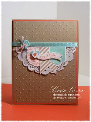 Love this idea. Banner made from a paper lace doily. Very cute. A La Cards: Sweet