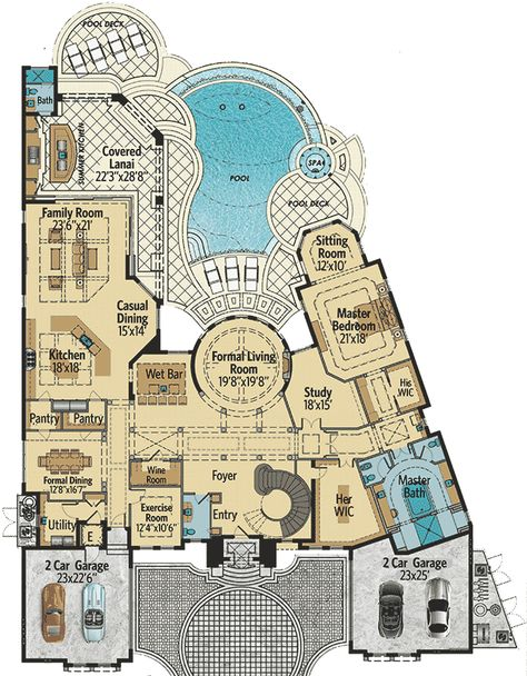 Top-Of-The-Line Mediterranean Villa - 31829DN | 1st Floor Master Suite, Butler Walk-in Pantry, CAD Available, Den-Office-Library-Study, Elevator, Florida, Luxury, MBR Sitting Area, Media-Game-Home Theater, Mediterranean, PDF | Architectural Designs