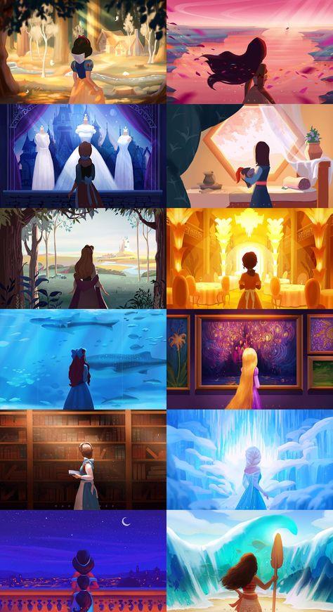 Maxine Vee Disney Princess Art