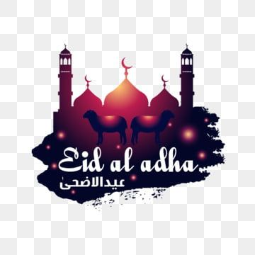 Eid Al Adha Greetings With Mosque And Goat Eid Eid Al Adha Eid Mubarak Png And Vector With Transparent Background For Free Download Eid Al Adha Greetings Purple Flower Background Free