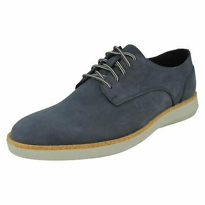 Details About Mens Clarks Fairford Run Navy Nubuck Leather Casual Lace Up Shoes G Fitting