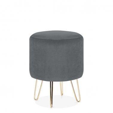Prime Cult Living Paloma Round Footstool Velvet Upholstered Ibusinesslaw Wood Chair Design Ideas Ibusinesslaworg