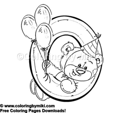 Teddy Bear Numbers 0 Coloring Page 614 Kidsactivities
