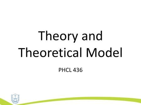 Theory And Theoretical Model Phcl 436 Outline Interrelation Between Theory Research And Practice Social Learning Theory Intrapersonal Principles Of Learning